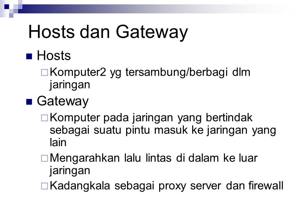 Hosts dan Gateway Hosts Gateway