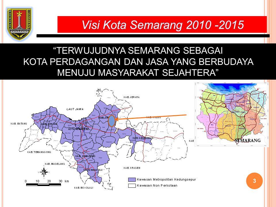 Visi Kota Semarang 2010 -2015 TERWUJUDNYA SEMARANG SEBAGAI