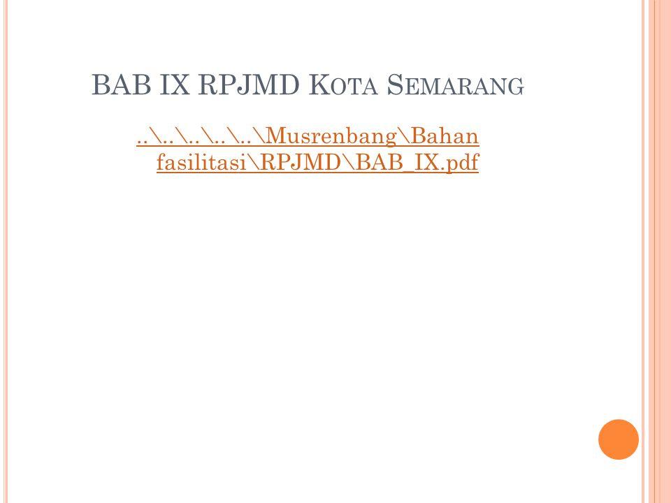 BAB IX RPJMD Kota Semarang