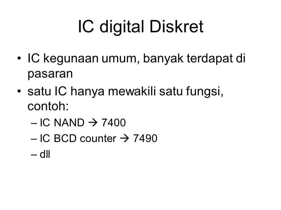 IC digital Diskret IC kegunaan umum, banyak terdapat di pasaran