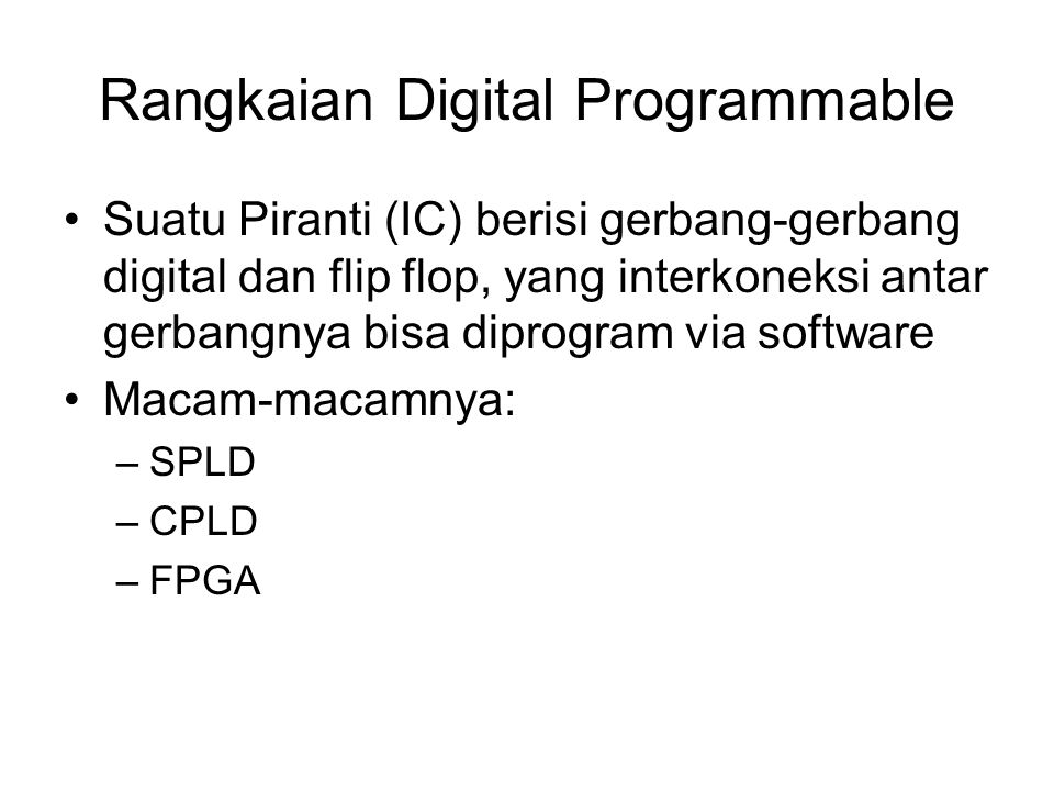 Rangkaian Digital Programmable