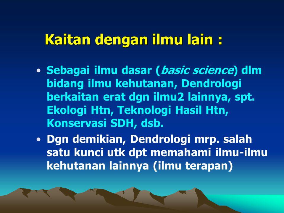 Kaitan dengan ilmu lain :