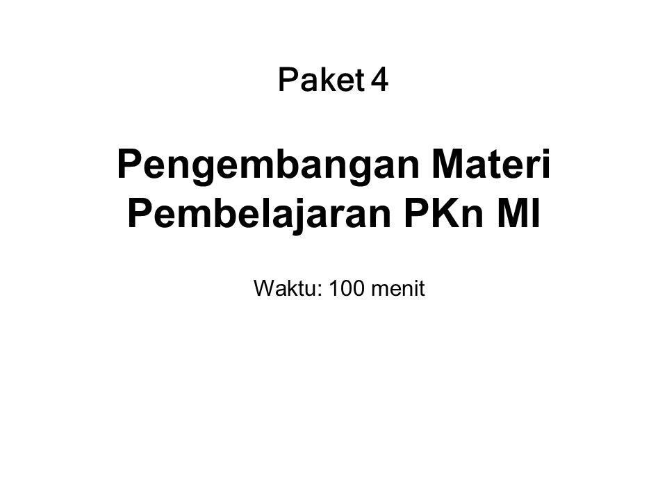 Paket 4 Pengembangan Materi Pembelajaran PKn MI