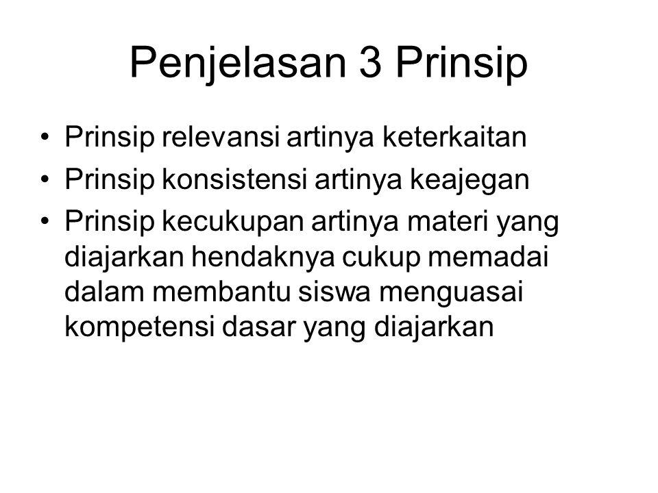 Penjelasan 3 Prinsip Prinsip relevansi artinya keterkaitan