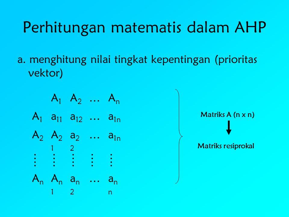 Perhitungan matematis dalam AHP