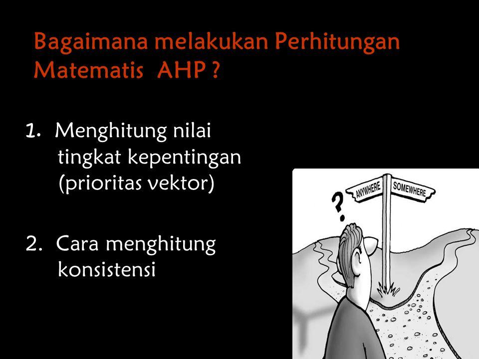 Bagaimana melakukan Perhitungan Matematis AHP