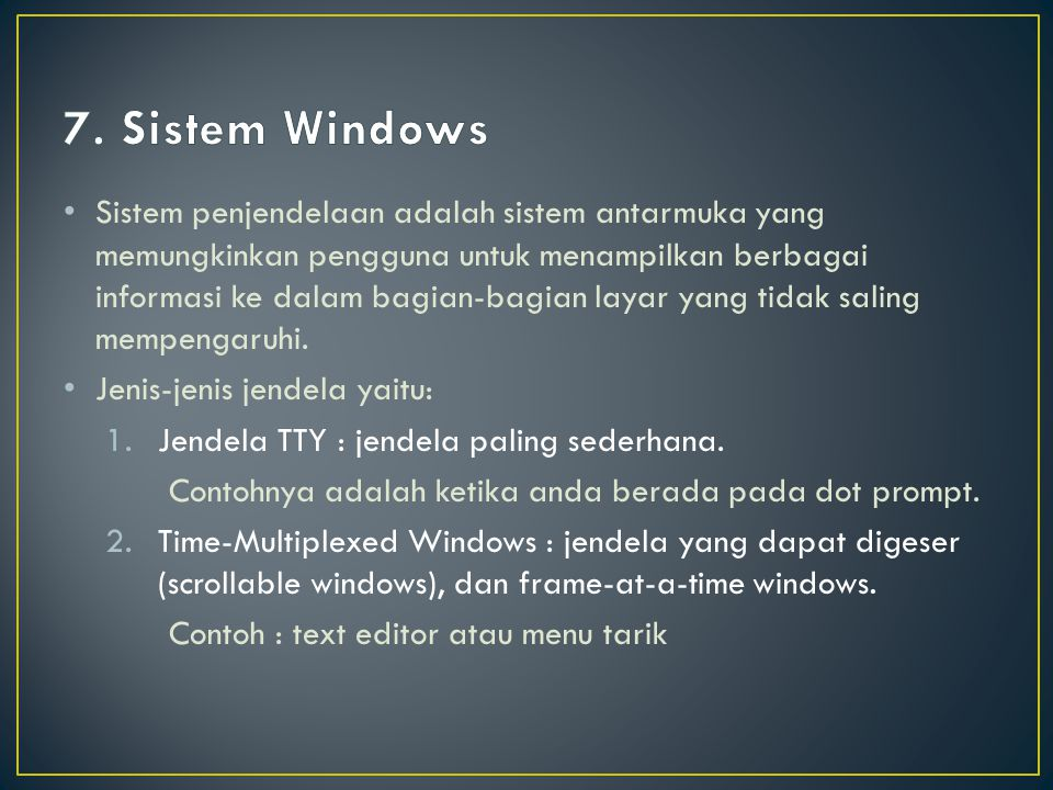 7. Sistem Windows