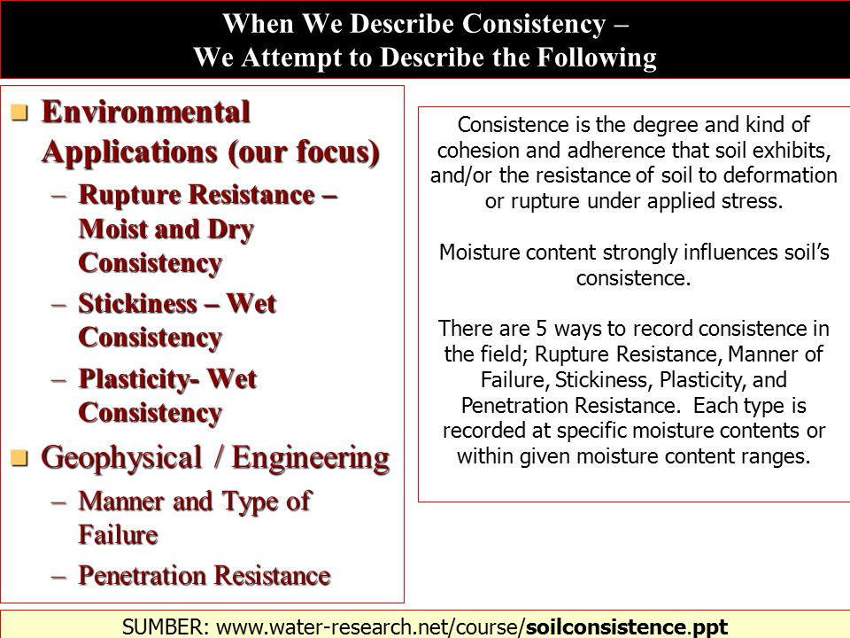 When We Describe Consistency – We Attempt to Describe the Following