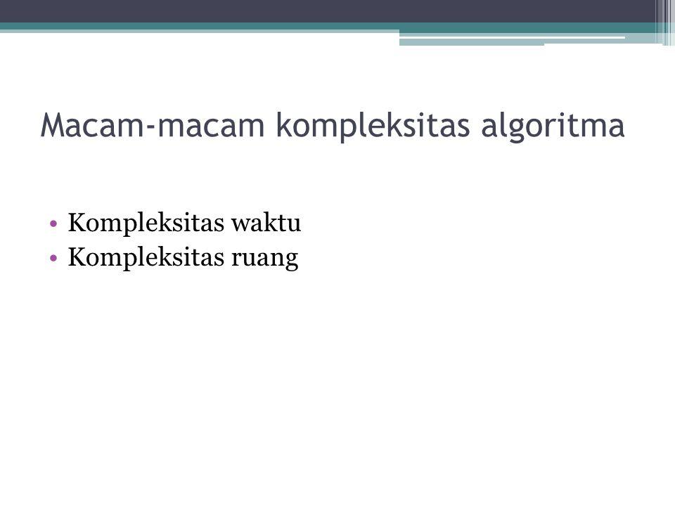 Macam-macam kompleksitas algoritma