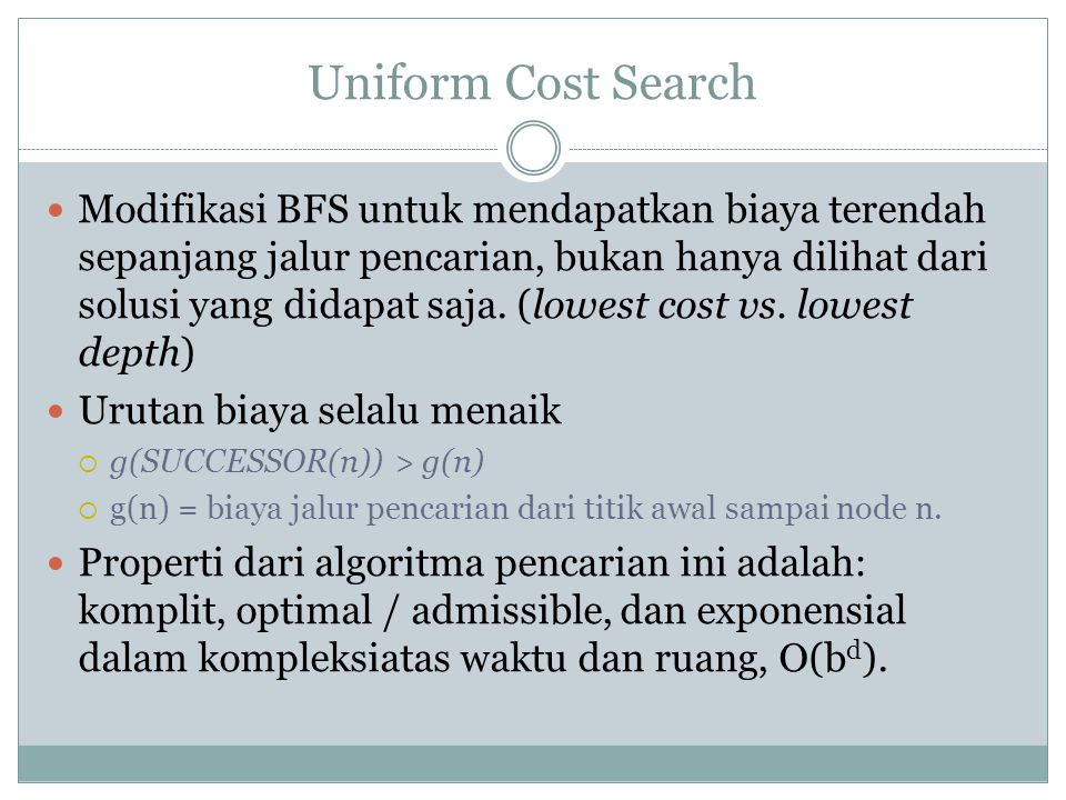 Uniform Cost Search