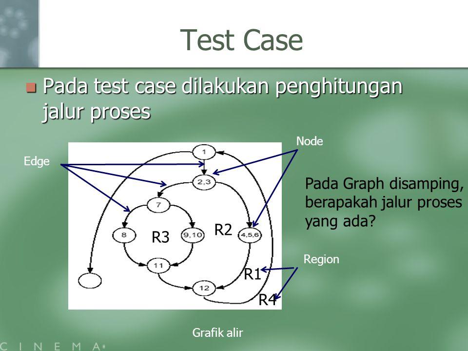 Test Case Pada test case dilakukan penghitungan jalur proses
