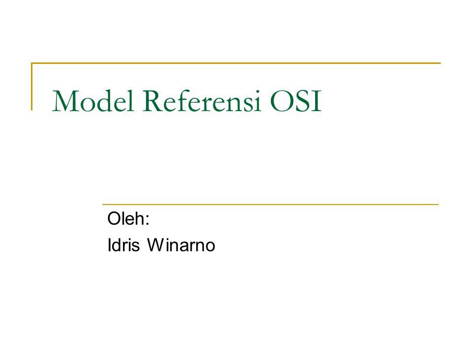 Model Referensi OSI Oleh: Idris Winarno
