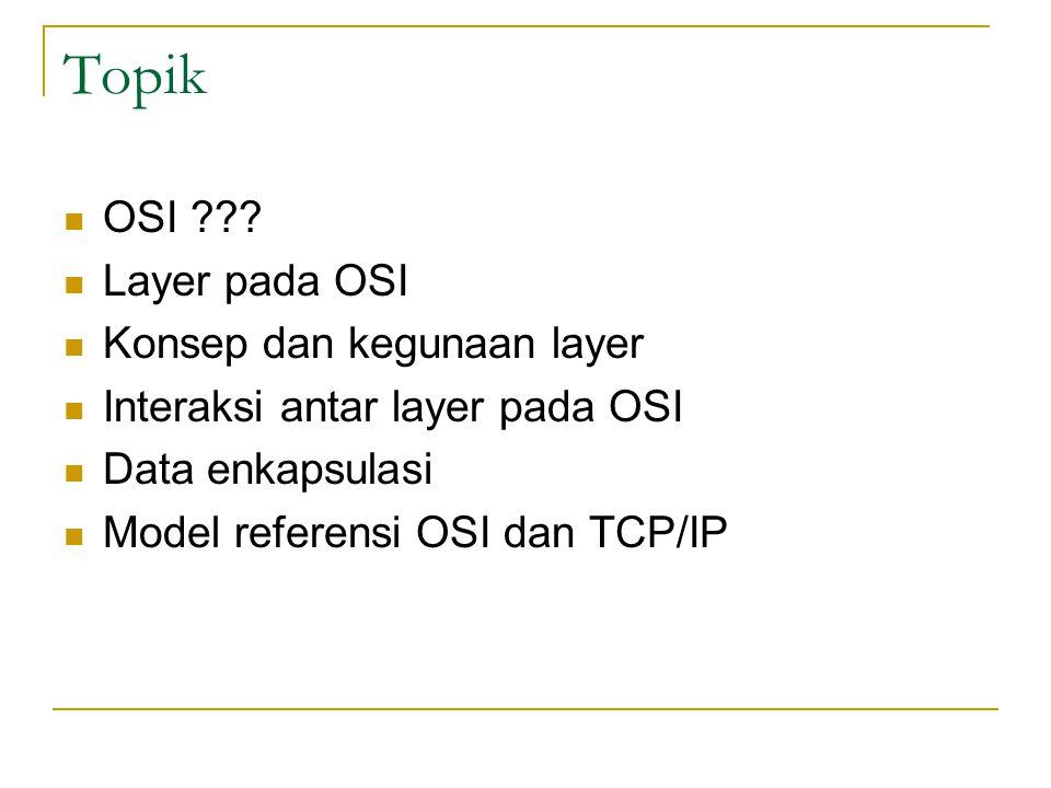 Topik OSI Layer pada OSI Konsep dan kegunaan layer