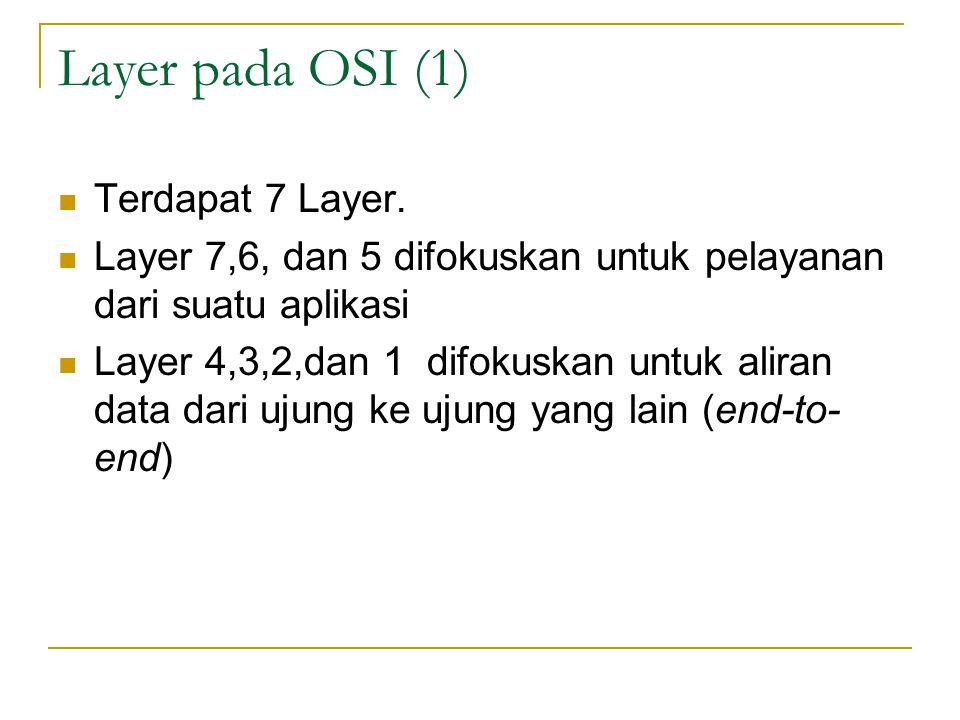 Layer pada OSI (1) Terdapat 7 Layer.