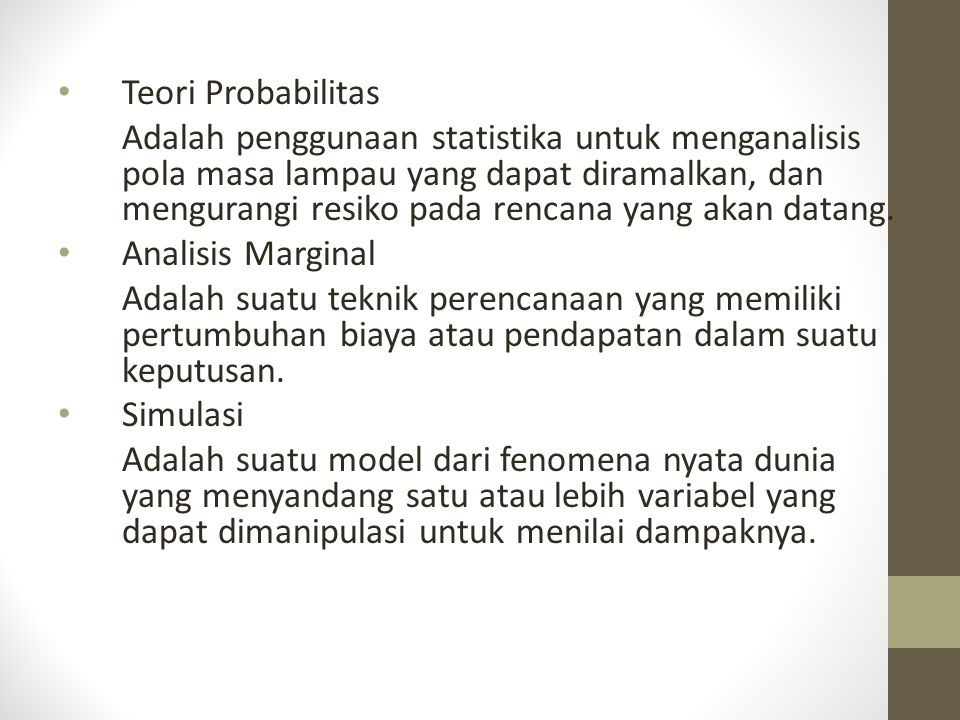 Teori Probabilitas