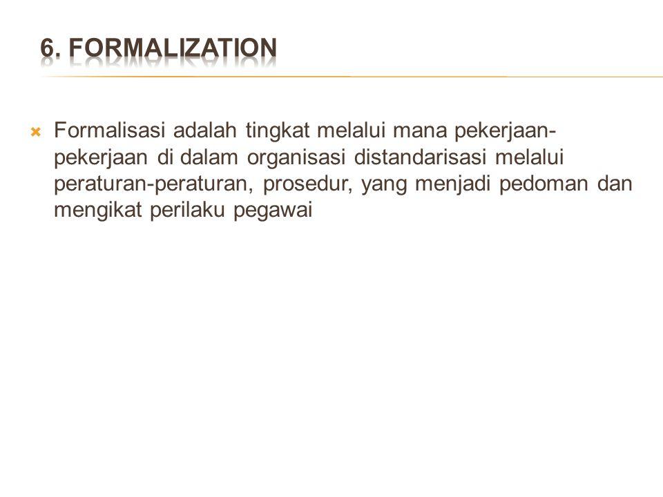 6. FORMALIZATION