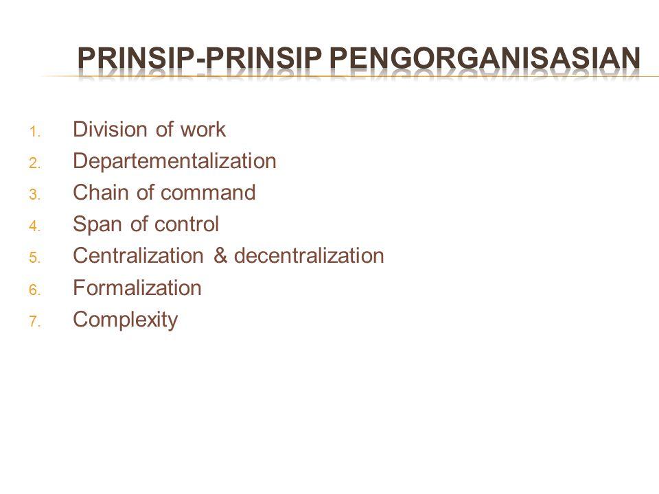 PRINSIP-PRINSIP PENGORGANISASIAN
