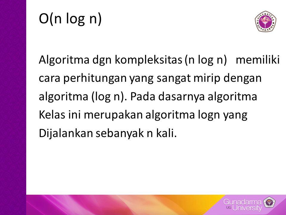 O(n log n)