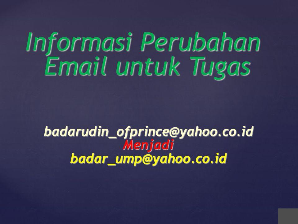 Informasi Perubahan Email untuk Tugas