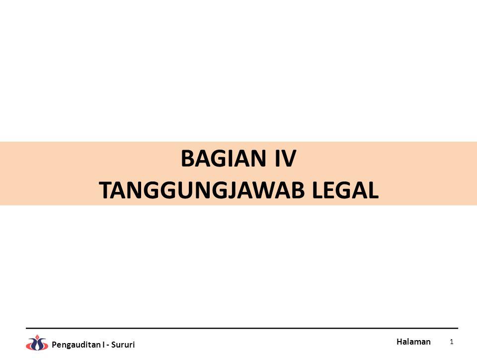 BAGIAN IV TANGGUNGJAWAB LEGAL