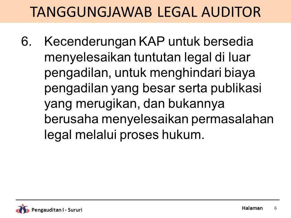TANGGUNGJAWAB LEGAL AUDITOR