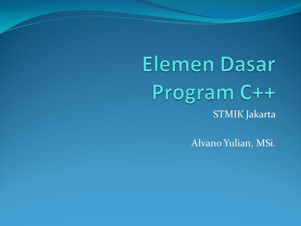 Elemen Dasar Program C++