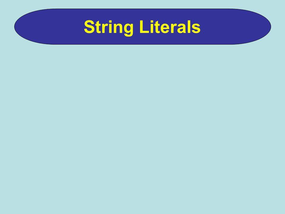 String Literals