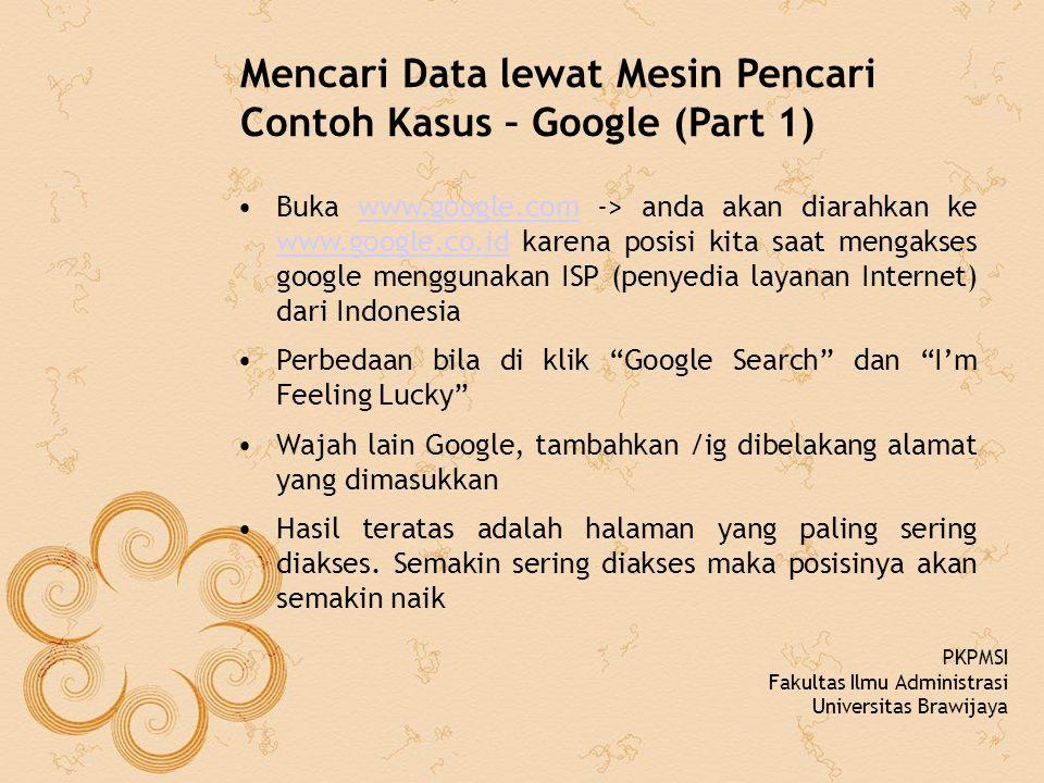 Mencari Data lewat Mesin Pencari Contoh Kasus – Google (Part 1)