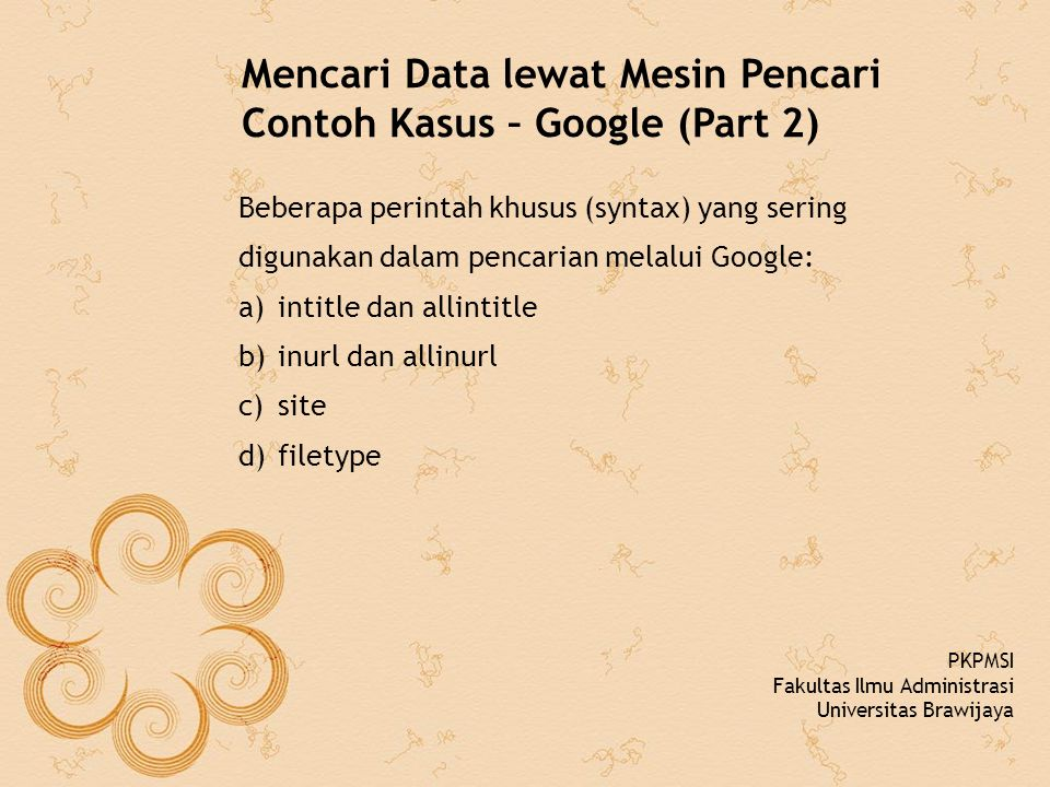Mencari Data lewat Mesin Pencari Contoh Kasus – Google (Part 2)