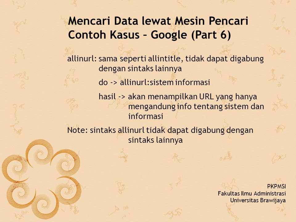 Mencari Data lewat Mesin Pencari Contoh Kasus – Google (Part 6)