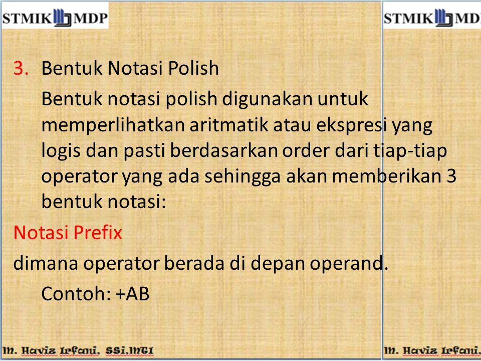 Bentuk Notasi Polish