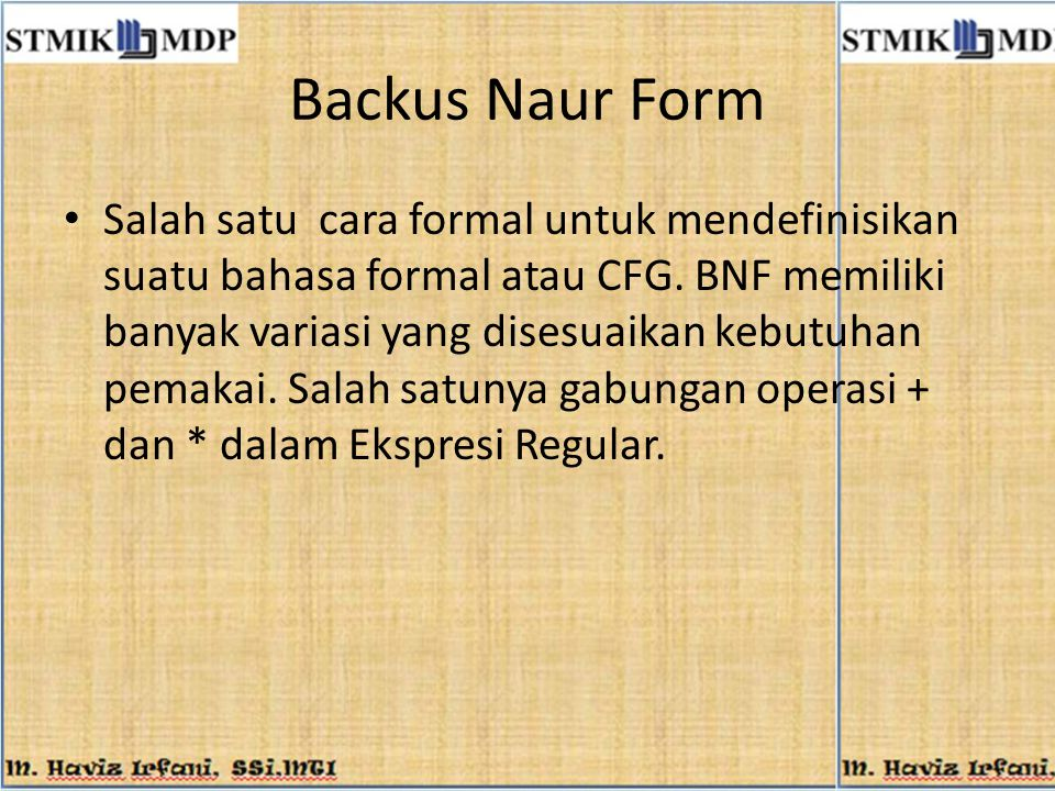 Backus Naur Form