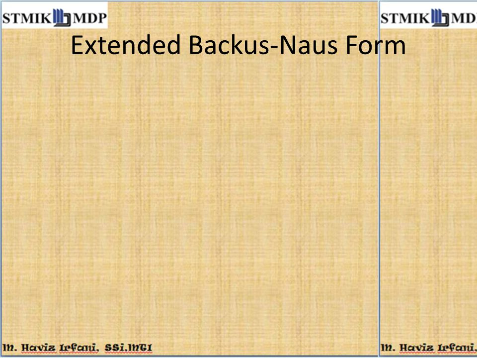 Extended Backus-Naus Form