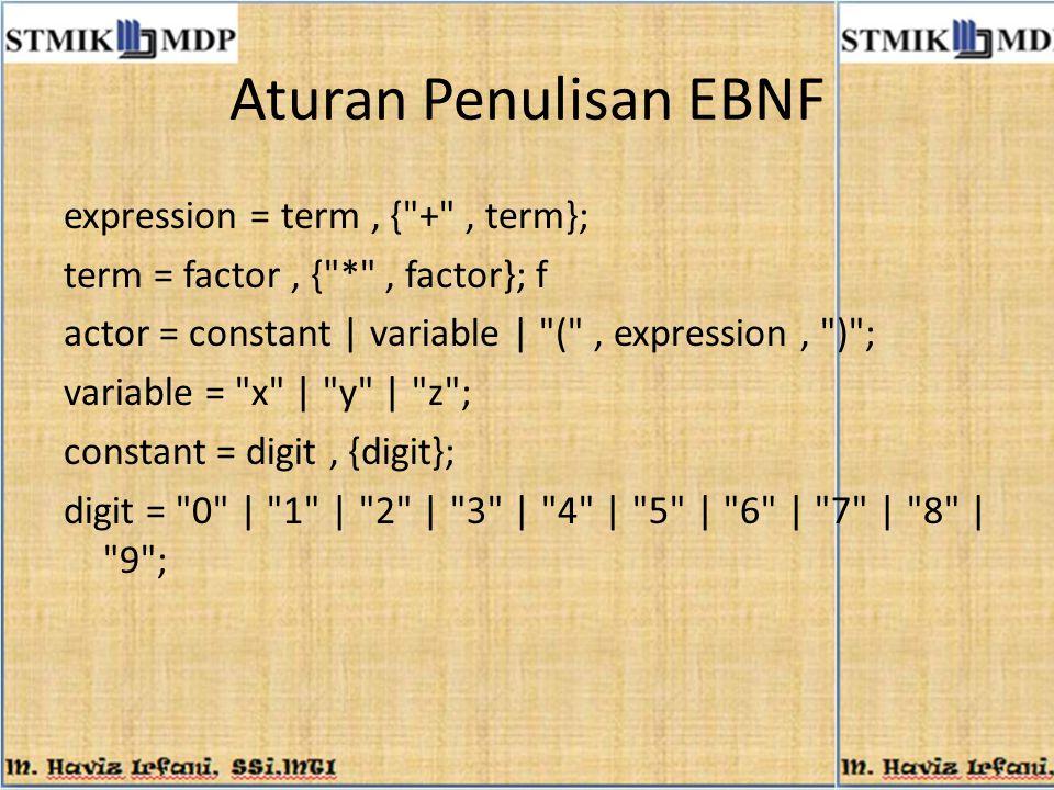 Aturan Penulisan EBNF