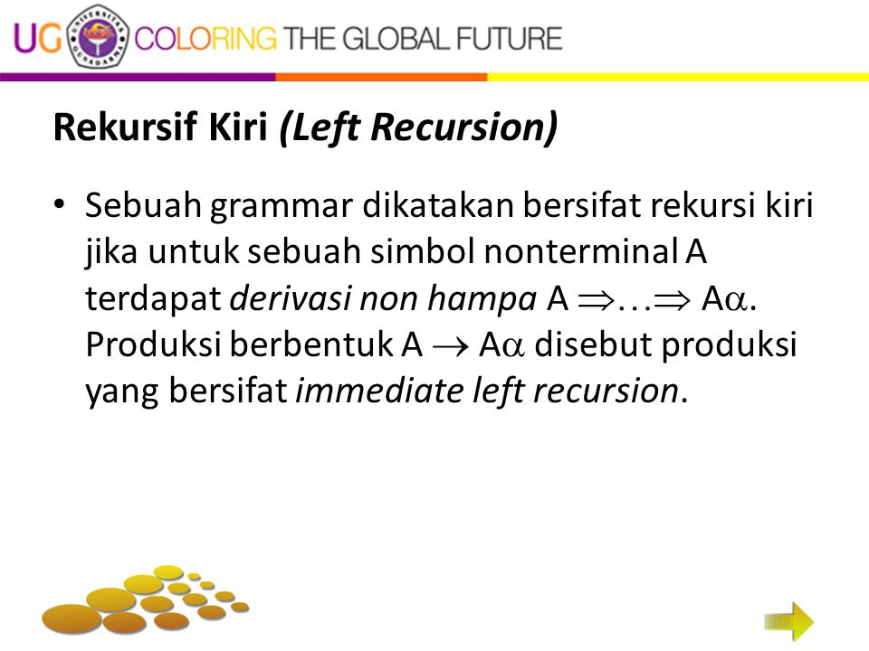 Rekursif Kiri (Left Recursion)