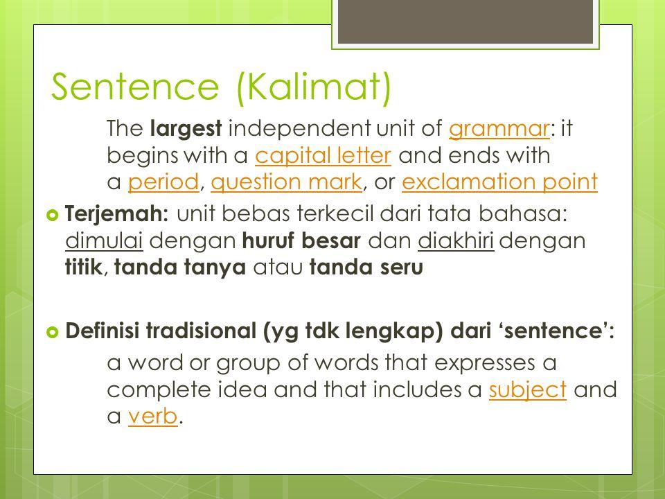 Sentence (Kalimat)