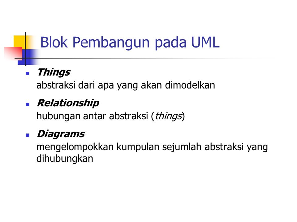 Blok Pembangun pada UML