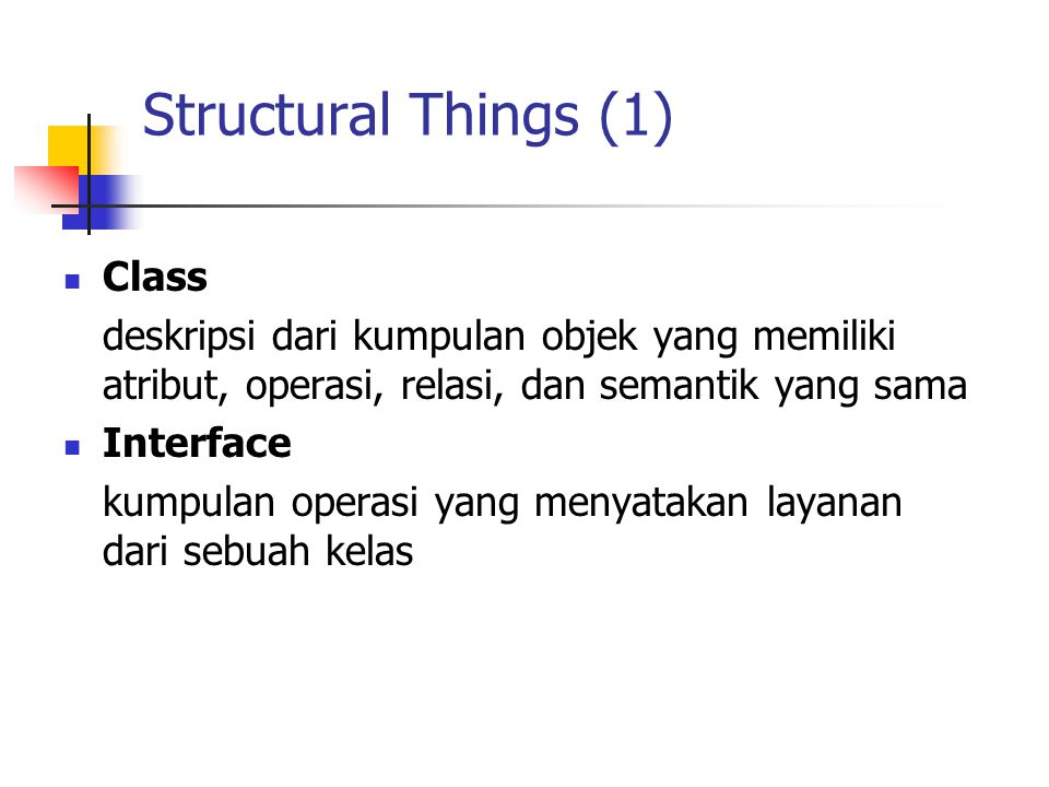 Structural Things (1) Class