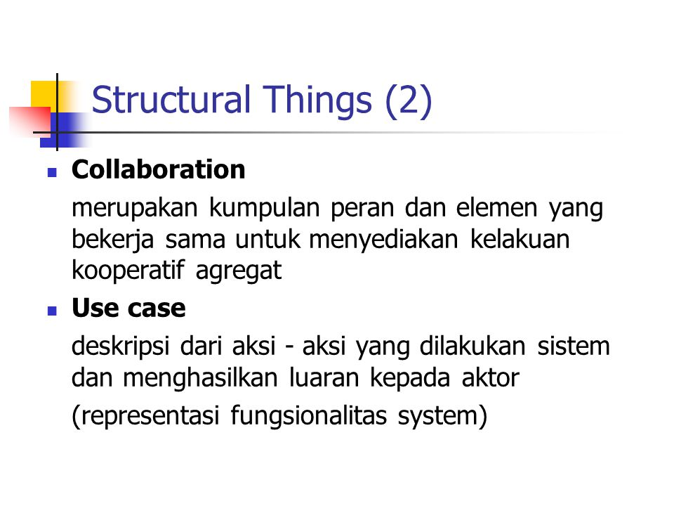 Structural Things (2) Collaboration