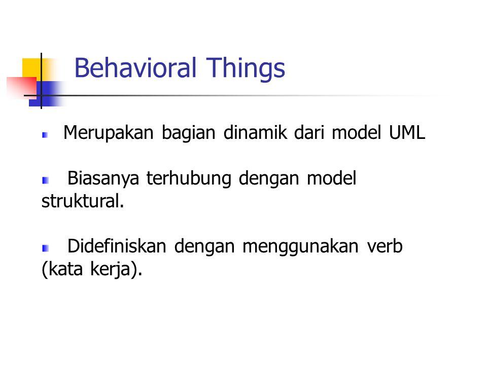 Behavioral Things Biasanya terhubung dengan model struktural.