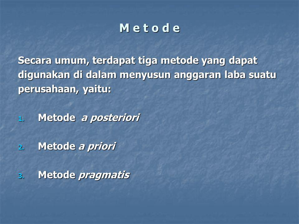 M e t o d e Secara umum, terdapat tiga metode yang dapat