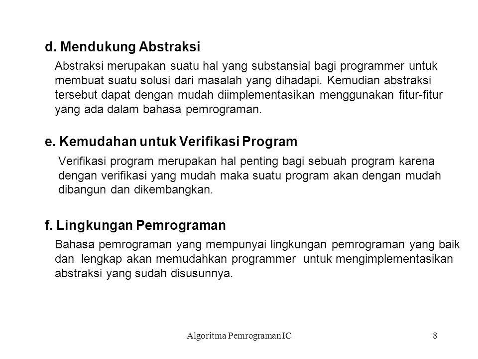 Algoritma Pemrograman IC