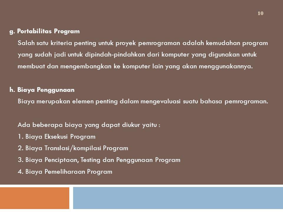 g. Portabilitas Program