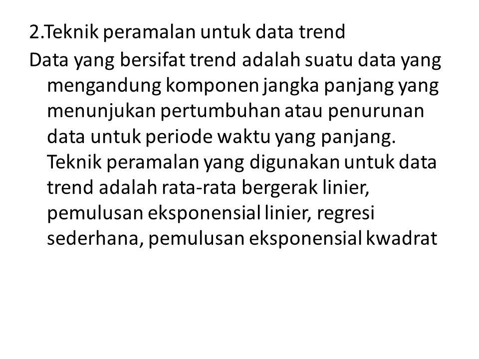 2.Teknik peramalan untuk data trend