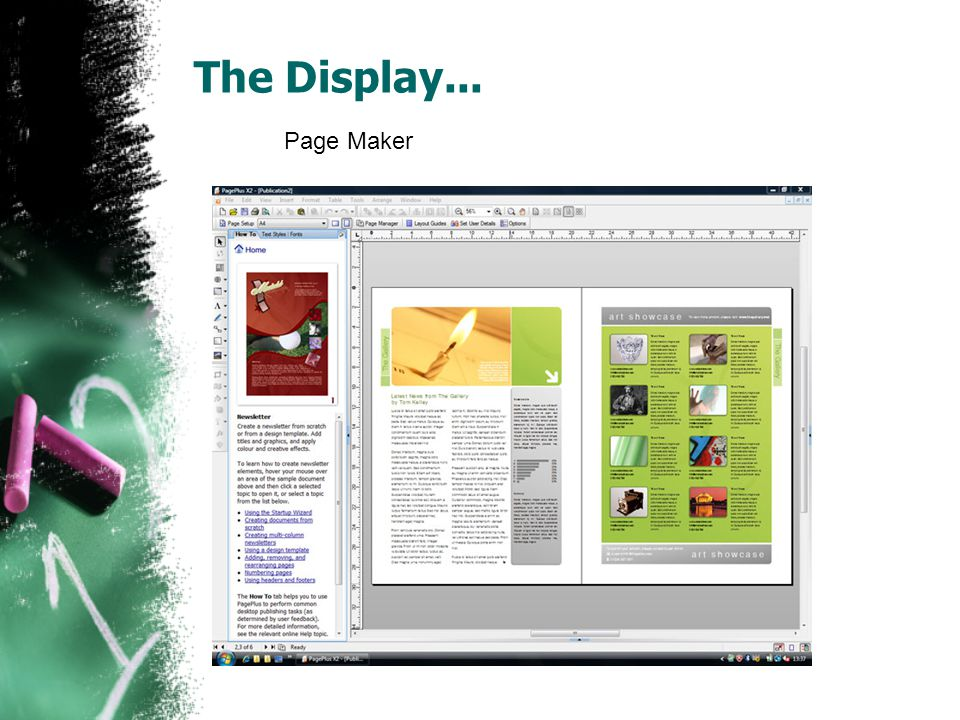 The Display... Page Maker