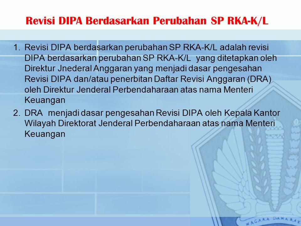 Revisi DIPA Berdasarkan Perubahan SP RKA-K/L
