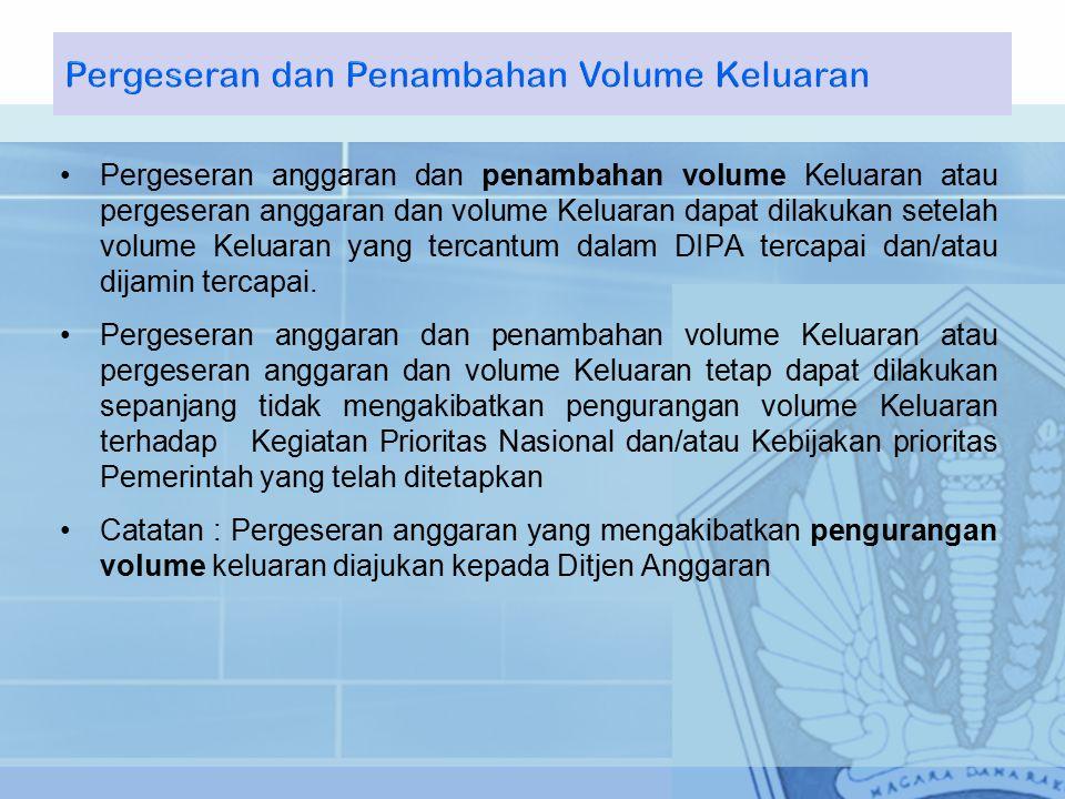 Pergeseran dan Penambahan Volume Keluaran