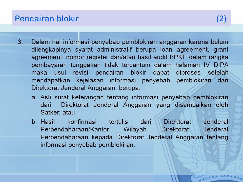 Pencairan blokir (2)