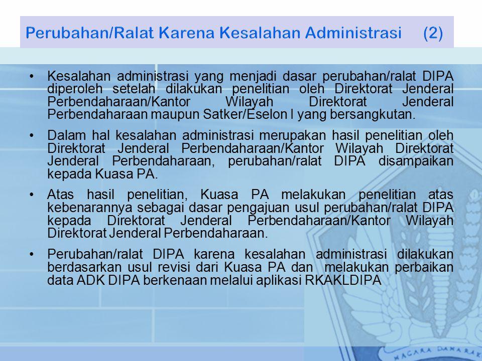 Perubahan/Ralat Karena Kesalahan Administrasi (2)