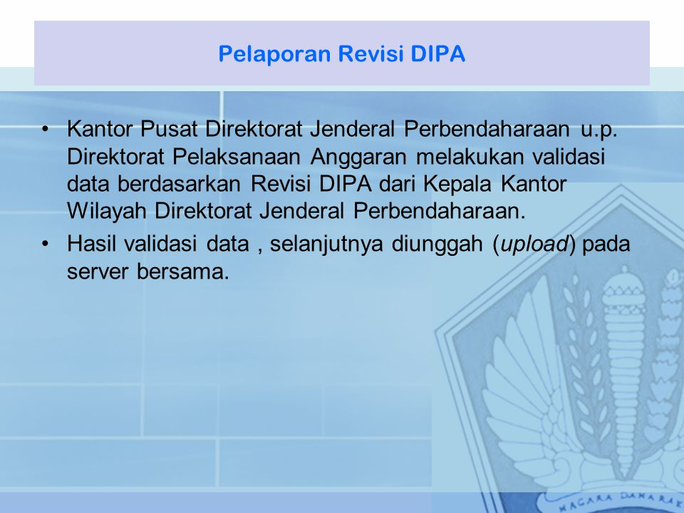 Pelaporan Revisi DIPA
